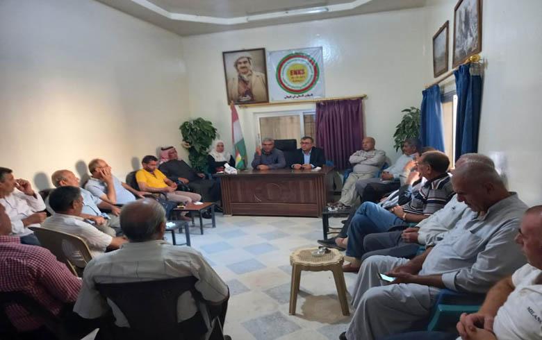 مسلم محمد يزورمقرالمجلس المحلي للـ ENKS في كوباني