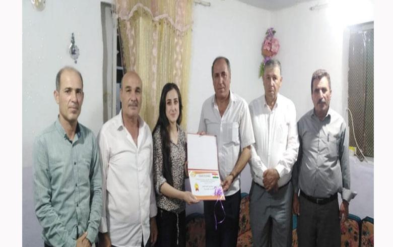 منظمة دارة شكران لـ PDK-S تكرم الطلبة المتخرجين من جامعات إقليم كوردستان في مخيم دارة شكران