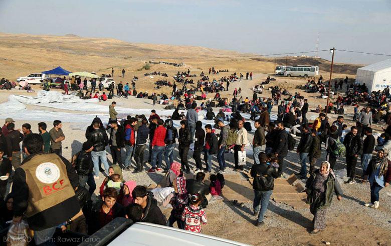 وصول 141 لاجئا سوريا إلى اقليم كوردستان