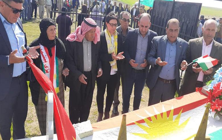 قيادة منظمة كوجرا للحزب الديمقراطي الكوردستاني - سوريا تحيي ذكرى شهداء انتفاضة قامشلو