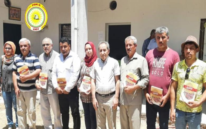 منظمة عامودا للـ PDK-S تكرم عوائل شهداء مجزرة عامودا وشهداء البيشمركة
