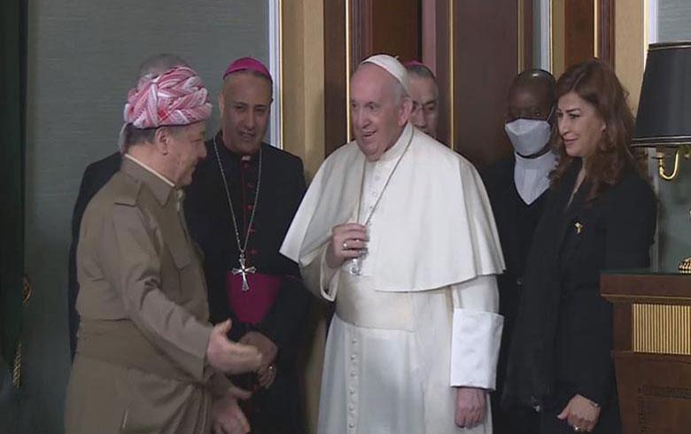 Papa Francis bo Serok Barzanî: Ez spasiya we dikim ji ber parastina pêkhateyan