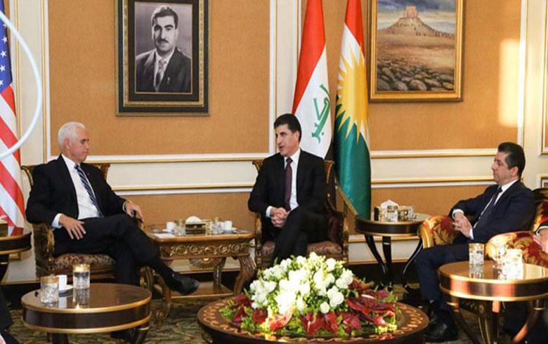 مايك بينس يشكر إقليم كوردستان على دوره المؤثر في الحرب ضد داعش