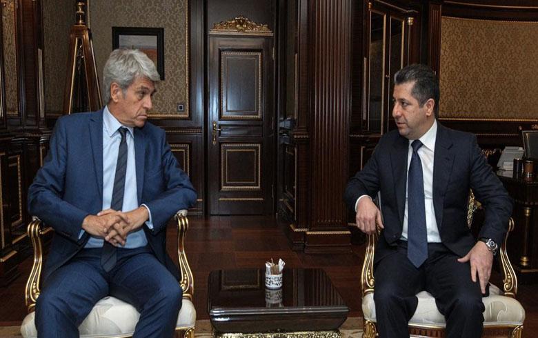 مسرور بارزاني وبرونو اوبير يؤكدان على ان التصعيد في سوريا سيفجر موجة نزوح للكثيرين