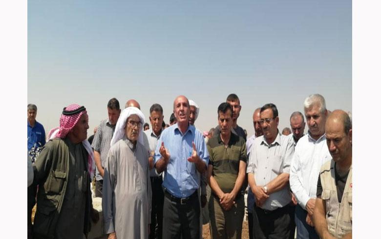 المجلس المحلي لـ ENKS  في ديرك يشارك في مراسيم دفن والد الشهيد مهدي سليمان نعمو في قرية  ركافا