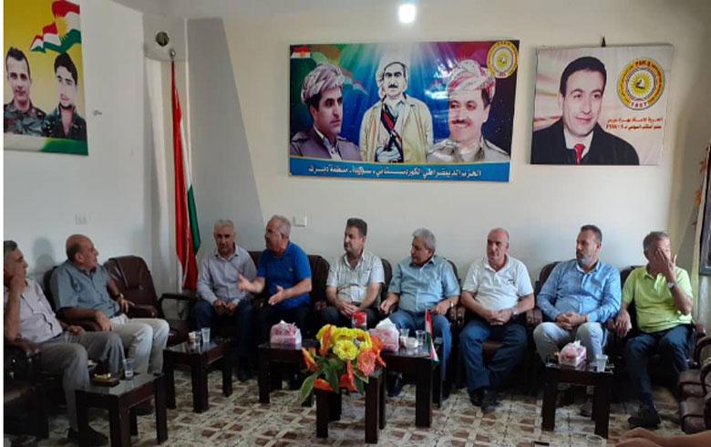 وفد من المجلس الملي لطائفة السريان  يزور مكتب الحزب الديمقراطي الكوردستاني – سوريا في ديرك