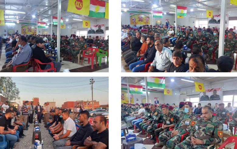 Li Domîz Mersîmên şîna herdu şehîdên pêşmergeyên ku ji aliyê PKKê ve hatin armackirin birêve çûn