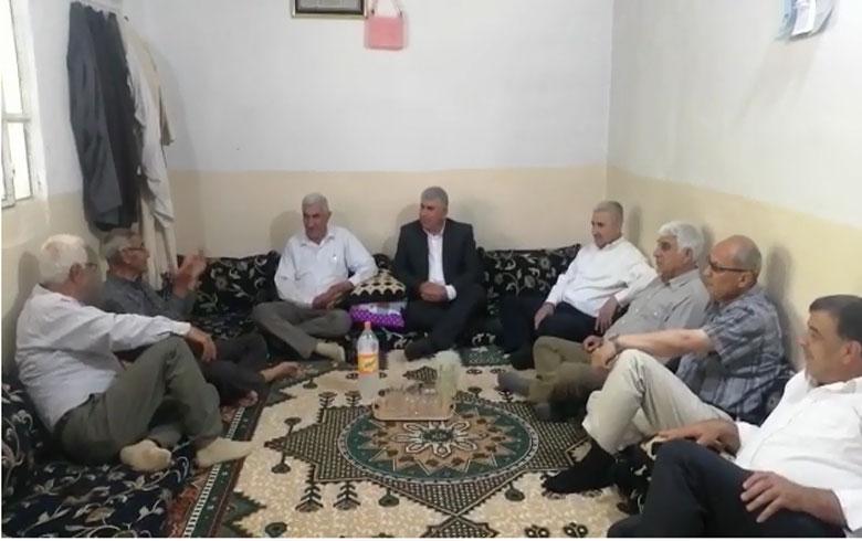 قيادة الحزب الديمقراطي الكوردستاني _سوريا تقدم تبريكات العيد للعوائل الوطنية في منطقة ديرك