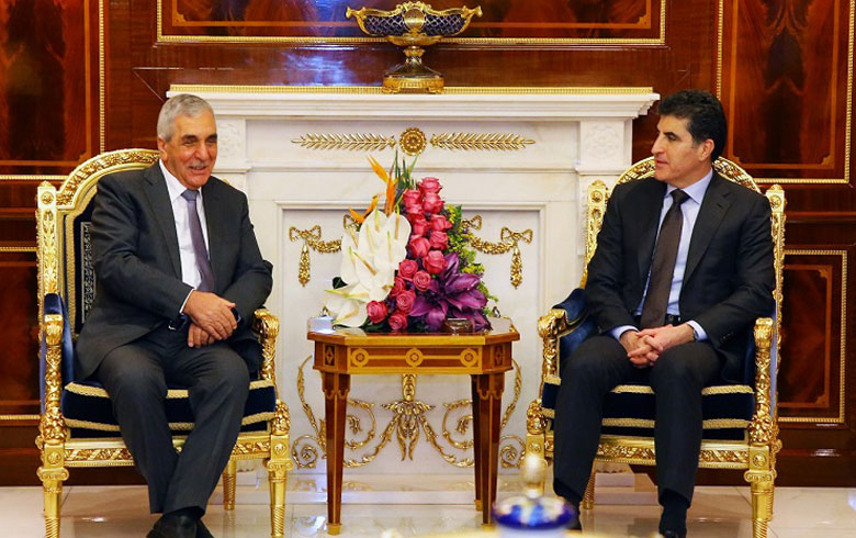 وفد من هيئة رئاسة المجلس الوطني الكوردي يزور فخامة رئيس إقليم كوردستان نيجيرفان بارزاني