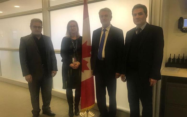 لقاءٌ بين وفد من ال ENKS وممثلة كندا الخاصة لسوريا
