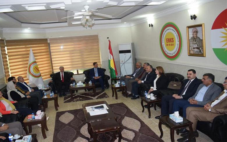 رئاسة ENKS تجتمع مع ممثلية ENKS بإقليم كودستان