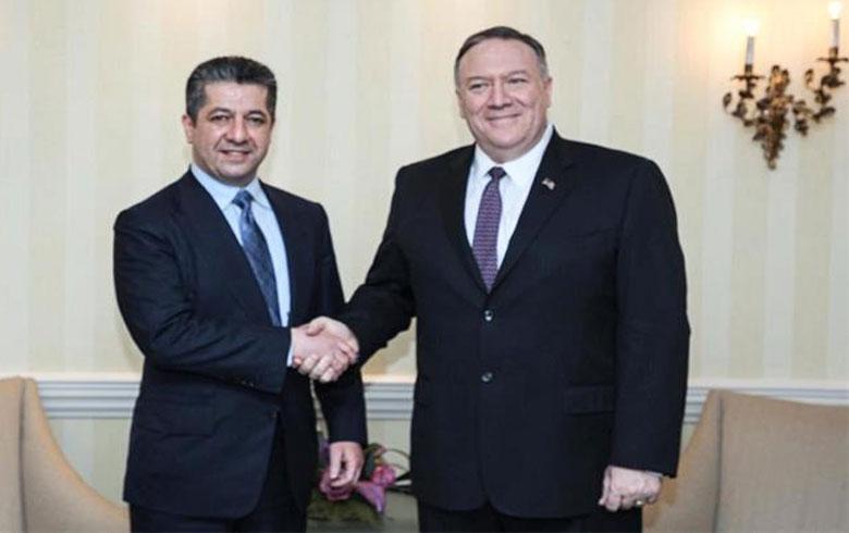 مسرور بارزاني يجتمع مع وزير الخارجية الأمريكي في ميونيخ