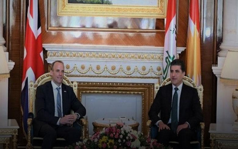 رئيس إقليم كوردستان يستقبل وزير الخارجية البريطاني