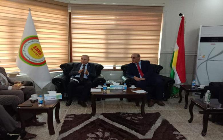 ممثلية ENKS تجتمع مع د. عبدالحكيم بشار