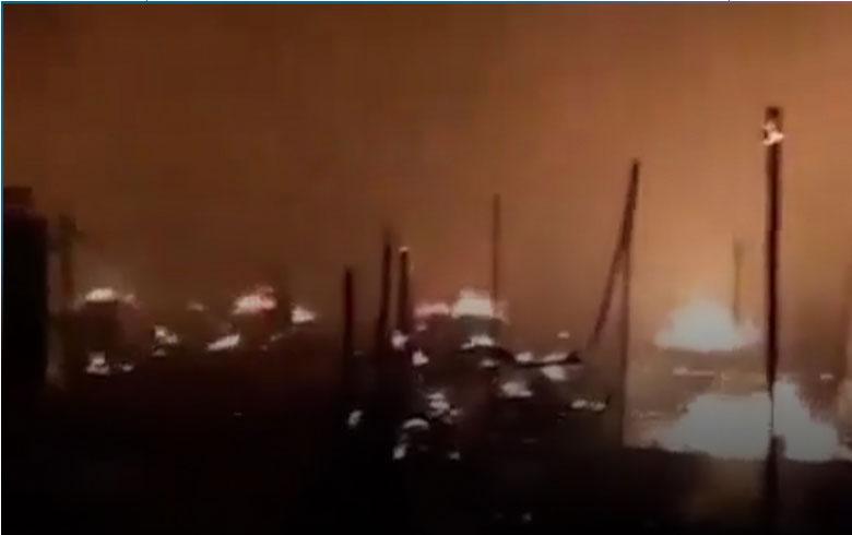 حريق في مخيم للاجئين السوريين بلبنان يلتهم أكثر من 20 خيمة