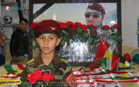 الديمقراطي الكوردستاني-سوريا يقيم أربعينية الشهيد البيشمركة مجدل أحمد في مخيم قوشتبة