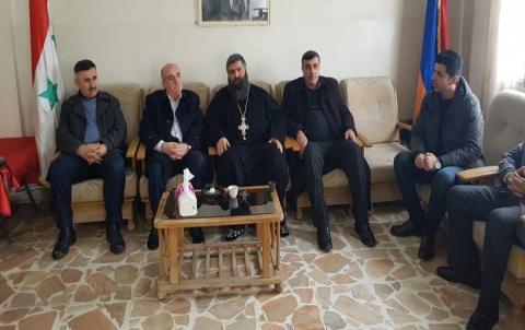 وفد من الـ PDK-S یزور كنیسة الأرمن في ديرك