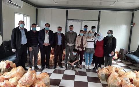منظمة دهوك لـ PDK-S توزع سلات غذائية للعوائل المحتاجة في مخيم فايدة