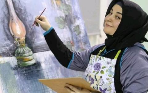 نوشين محمد ابنة ديريك... فنانة تشكيلية تتألق في السعودية