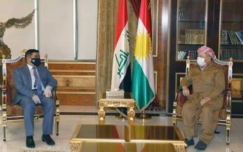الرئيس بارزاني يستقبل وزير الدفاع العراقي