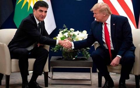 رئيس إقليم كوردستان يتلقى رسالة تهنئة من الرئيس الأمريكي