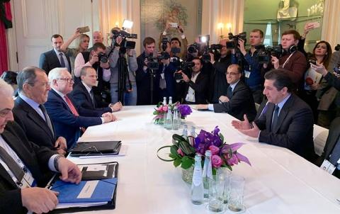 خلال لقائه مع لافروف عبر مسرور بارزاني  عن قلقه على مستقبل الشعب الكوردي في سوريا
