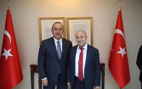د. عبدالحكيم بشار: ناقشنا موضوع المنطقة الآمنة مع وزير الخارجية التركية جاويش أوغلو