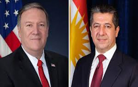 مسرور بارزاني ووزير الخارجية الامريكي يبحثان آخر المستجدات في العراق