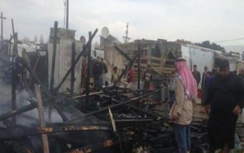 Şewateke mezin li kampeke Sûriyan li Lubnanê rûda