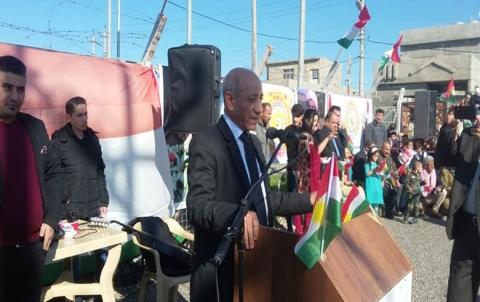 Li Kewregoskê roja Ala Kurdistanê hate vejandin