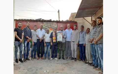 منظمة عامودا لـ PDK-S تكرم عائلة الشهيد البيشمركة الدار حواس نادر