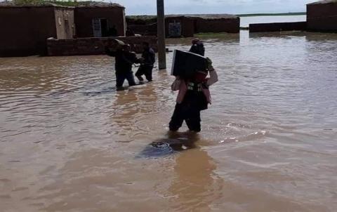أضرار الفيضانات في ريف قامشلو