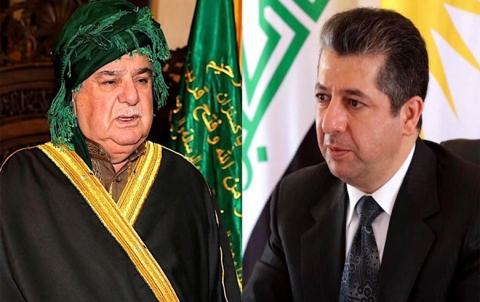 رئيس حكومة إقليم كوردستان يعزّي برحيل شيخ الطريقة القادرية الكسنزانية