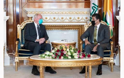 نيجيرفان بارزاني  وجيمس جيفري يبحثان وضع الكورد والحوار بين الأطراف الكوردية في كوردستان سوريا