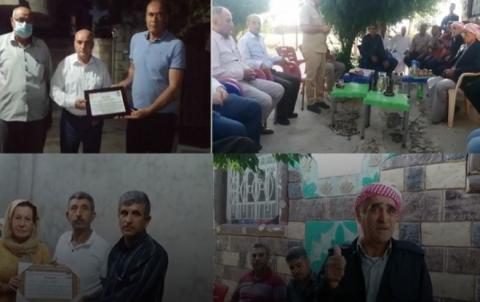 الحزب الديمقراطي الكوردستاني - سوريا يكرّم عدداً من مناضليه في ديرك