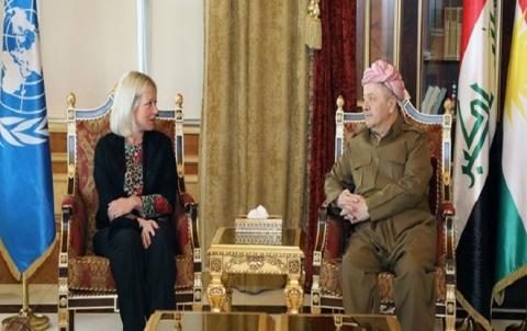 الرئيس بارزاني يستقبل الممثل الخاص للسكرتير العام للأمم المتحدة في العراق