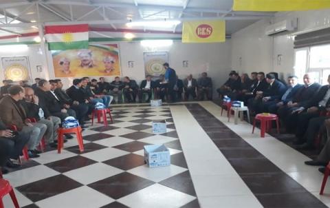 منظمة دوميز لـ PDK-S تقيم مراسم عزاء القيادي أكرم ملا