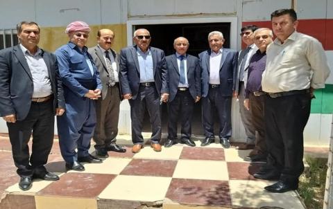 وفد من لجنة العلاقات في الحزب الديمقراطي الكوردستاني بدهوك يزور مكتب PDK-S في دوميز
