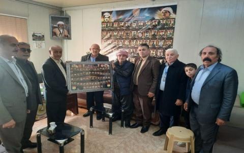 عوائل شهداء بيشمركة روج ووفود سياسية ووطنية تهنىء المسؤول الجديد لمنظمة دوميز للكوردستاني – سوريا