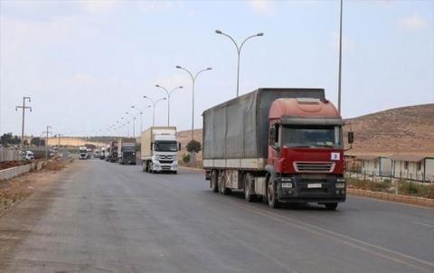 الأمم المتحدة ترسل قافلة مساعدات إنسانية إلى محافظة إدلب