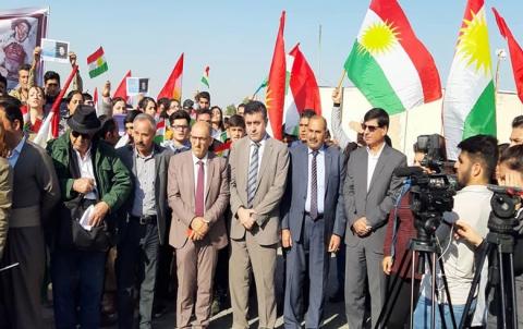 Nûneratiya  ENKSê beşdarî di mangirtinekê de bo piştevaniya Rojhilatê kurdistanê kir
