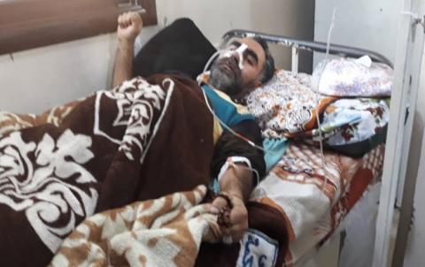 وفد من PDK-S في زيارة لأحد مصابي تفجير الحسكة