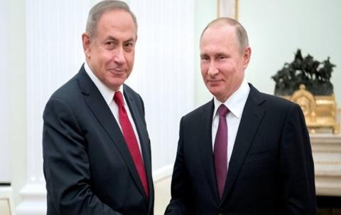بوتين ونتنياهو يبحثان هاتفياً التواجد الإيراني بسوريا