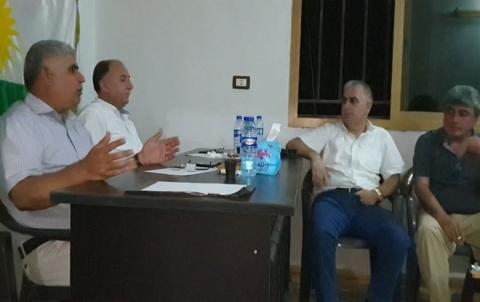 مسؤول التنظيم العام يجتمع مع كوادر PDK-S في قامشلو