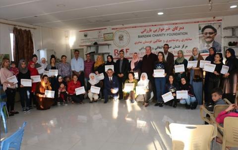 تخریج 80 مشاركة في دورة تمريض واسعافات أولية في مخيم قوشتبة