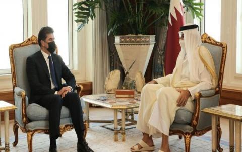 نيجيرفان بارزاني ورئيس الوزراء القطري يبحثان فرص الاستثمار القطري في اقليم كوردستان
