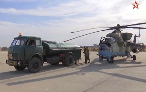 روسيا تنشر مروحيات ومنظومات دفاع جوي في مطار قامشلو