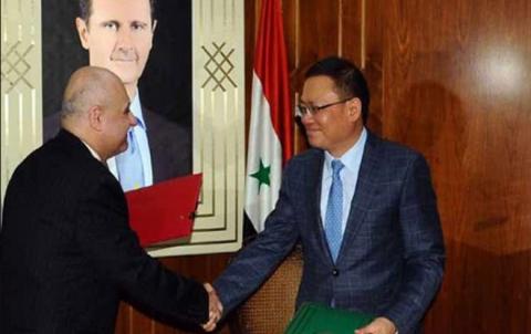 الصين تقدم منحة للنظام السوري بقيمة 15 مليون دولار