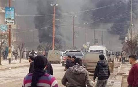 انفجار يهز مدينة عفرين