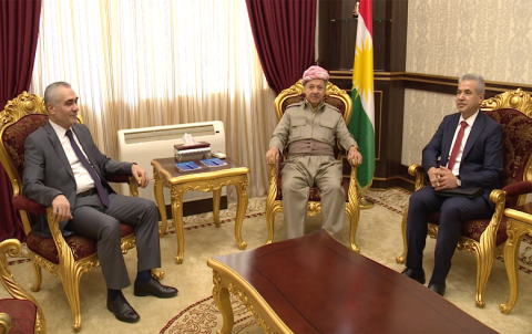 Serok Barzanî pêşwaziya şandeke Encûmena Niştimanî ya Kurd li Sûriye kir